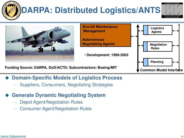 DARPA: Distributed Logistics/ANTS