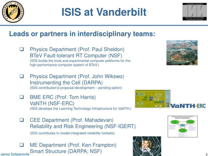 ISIS at Vanderbilt
