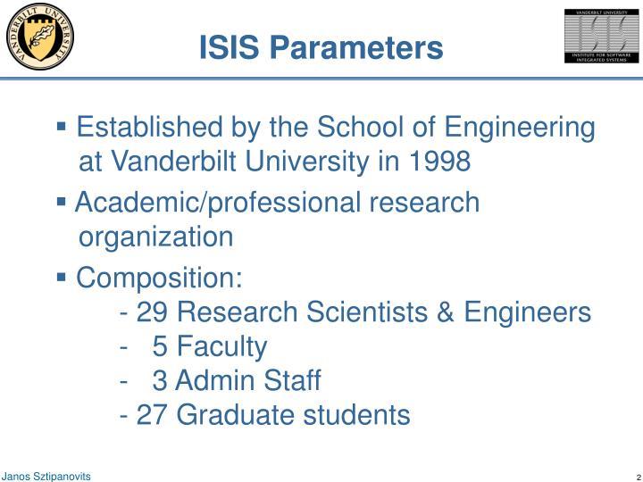 ISIS Parameters