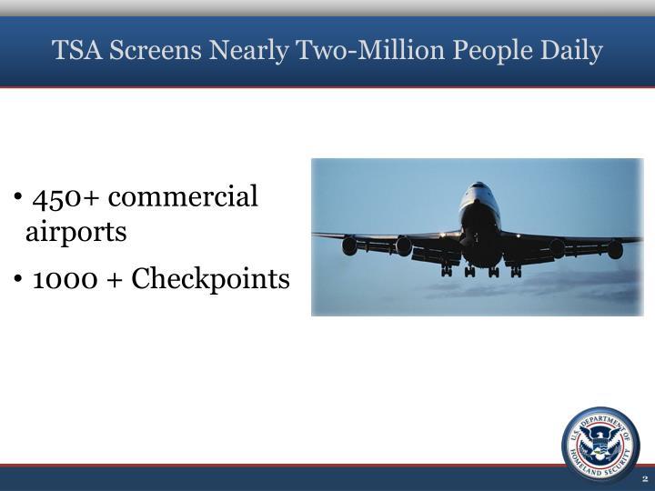 TSA Screens Nearly Two-Million People Daily