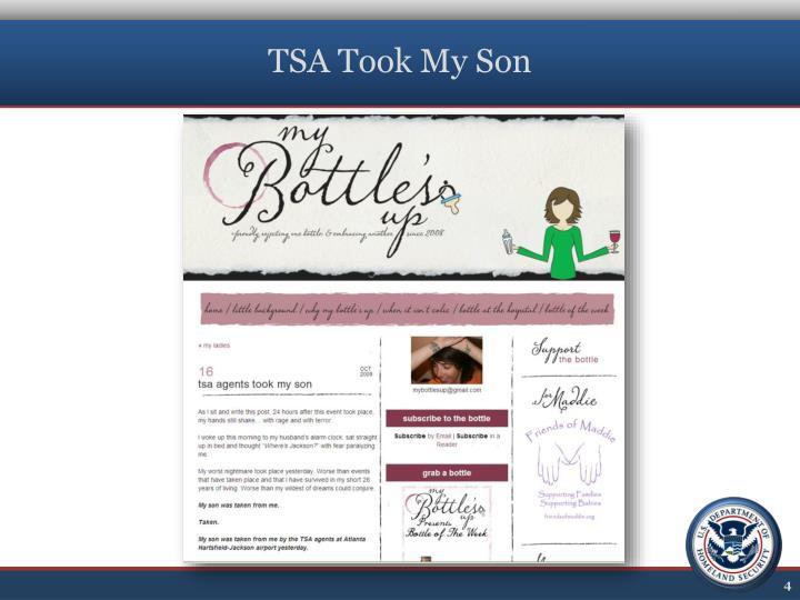 TSA Took My Son