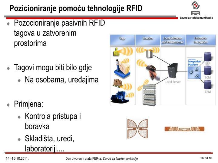 Pozicioniranje pomoću tehnologije RFID
