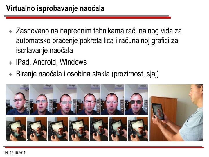 Virtualno isprobavanje naočala