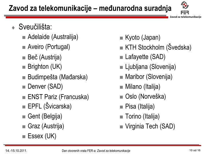 Zavod za telekomunikacije