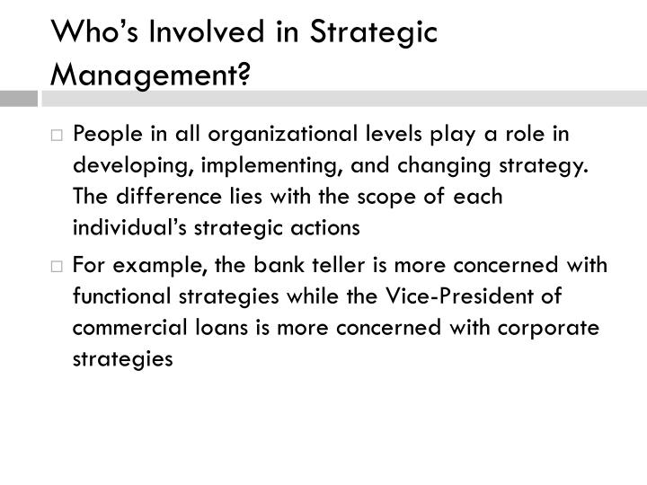 Who's Involved in Strategic Management?