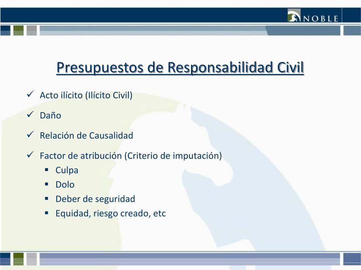 Presupuestos de Responsabilidad Civil