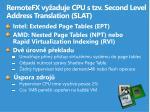 remotefx vy aduje cpu s tzv second level address translation slat
