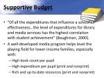 supportive budget
