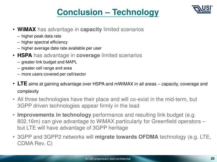 Conclusion – Technology