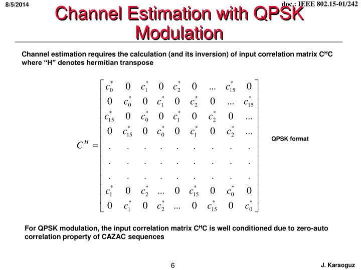 Channel Estimation with QPSK Modulation