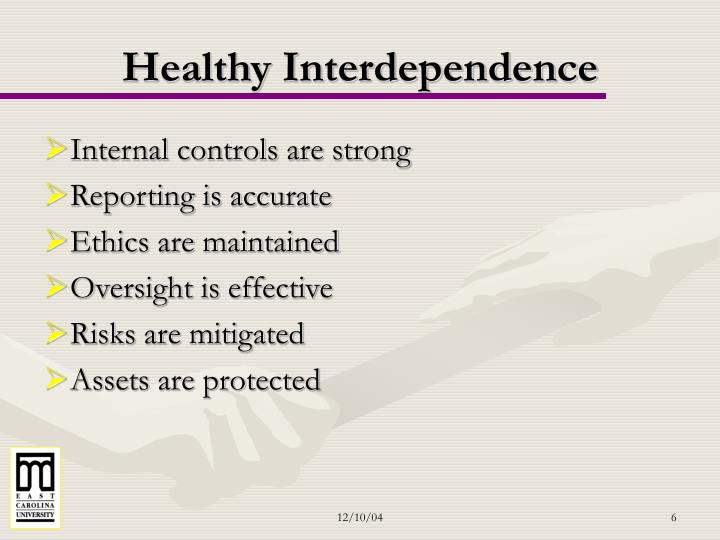 Healthy Interdependence