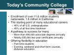 today s community college