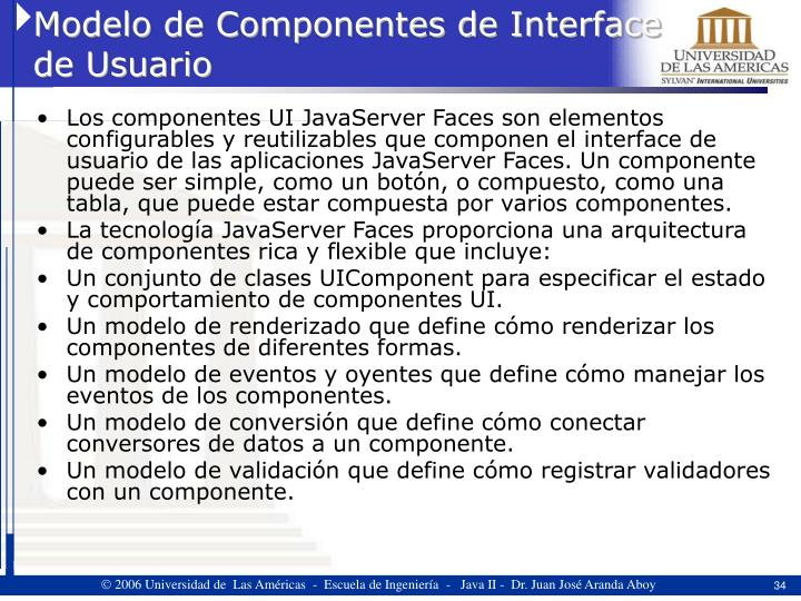 Modelo de Componentes de Interface de Usuario