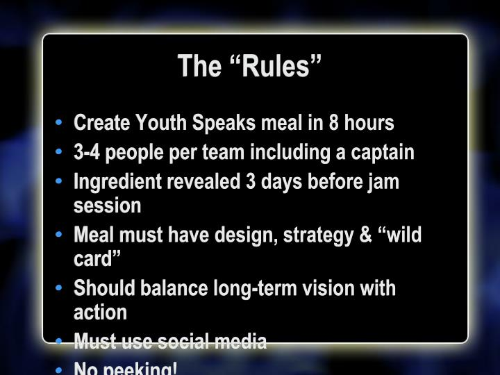 "The ""Rules"""