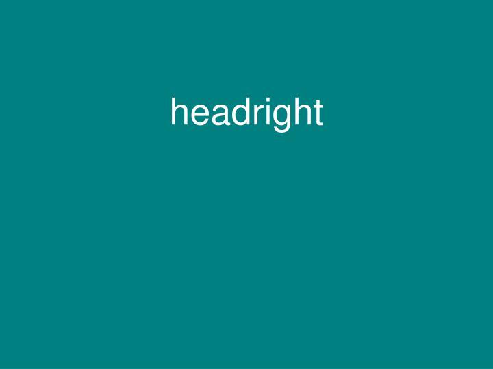 headright