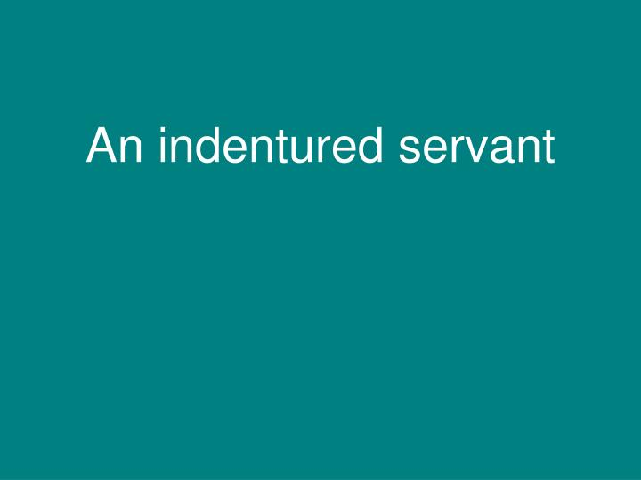 An indentured servant