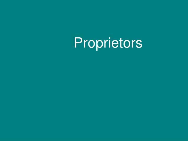Proprietors