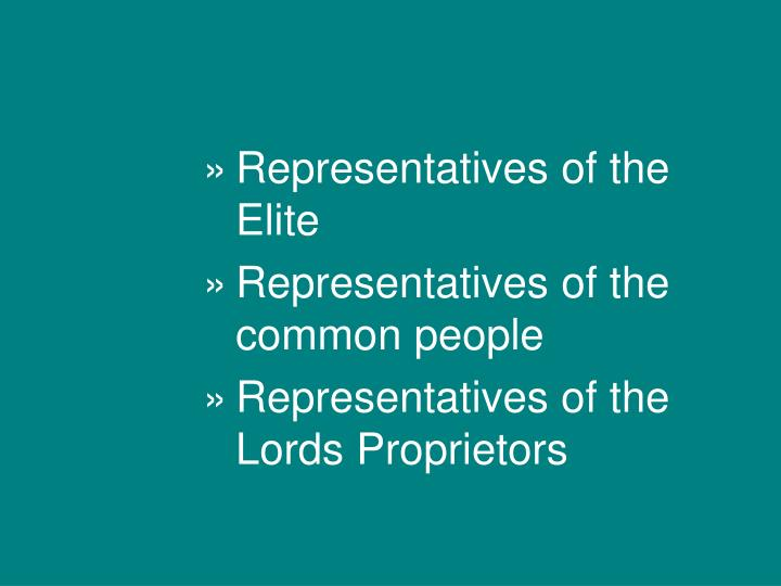 Representatives of the Elite