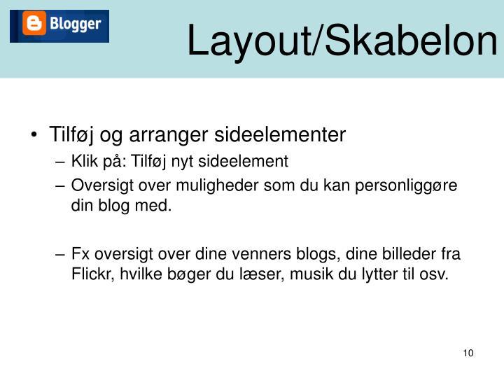 Layout/Skabelon