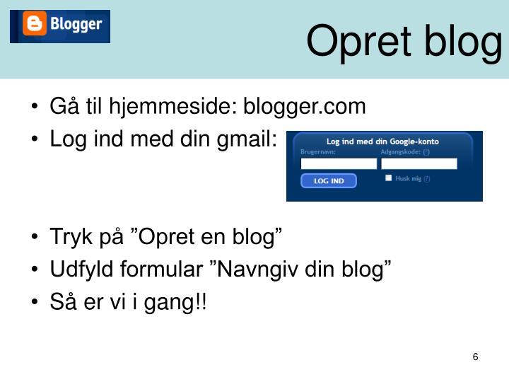 Opret blog