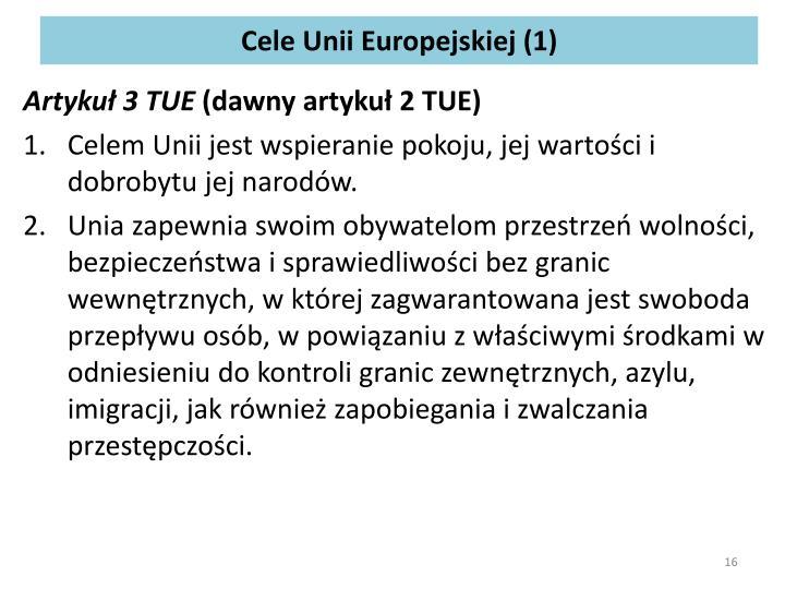 Cele Unii Europejskiej (1)