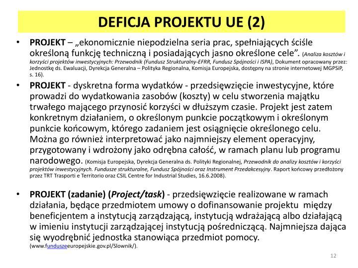 DEFICJA PROJEKTU UE (2)