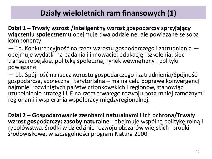 Działy wieloletnich ram finansowych (1)