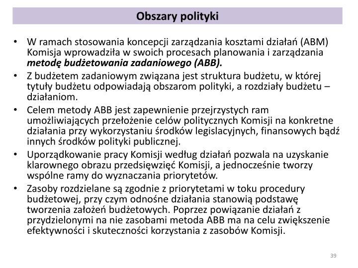 Obszary polityki