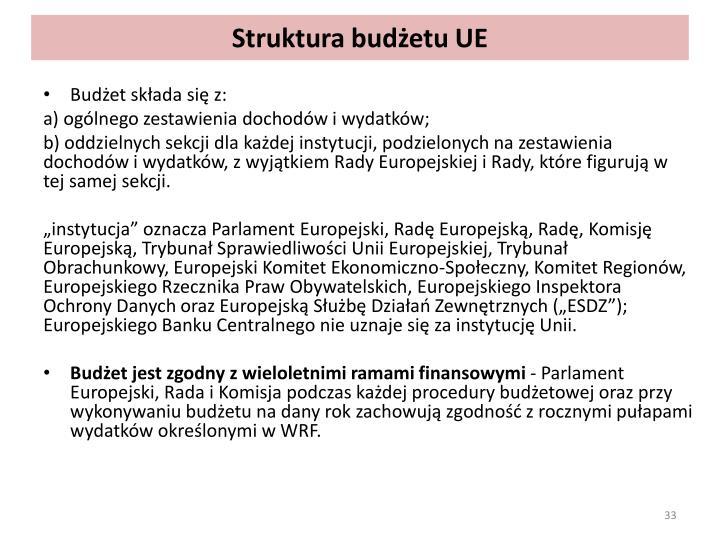 Struktura budżetu