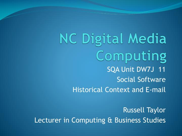 NC Digital Media Computing