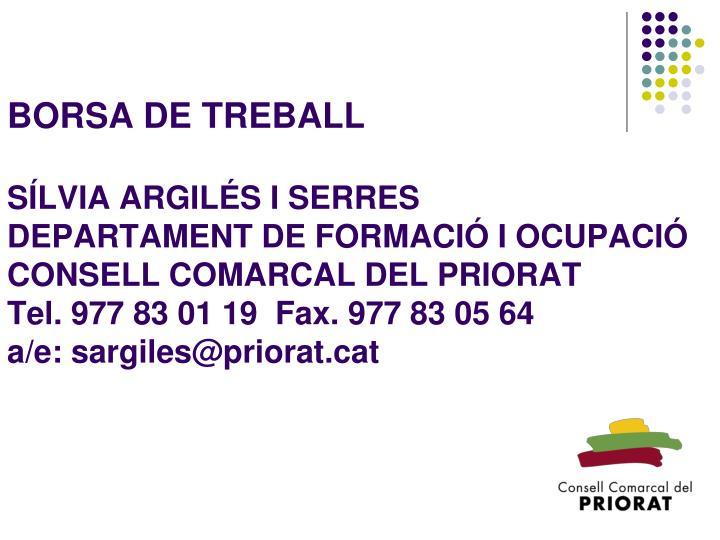 BORSA DE TREBALL