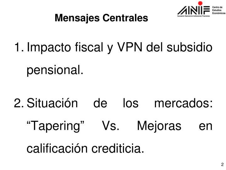 Impacto fiscal y VPN