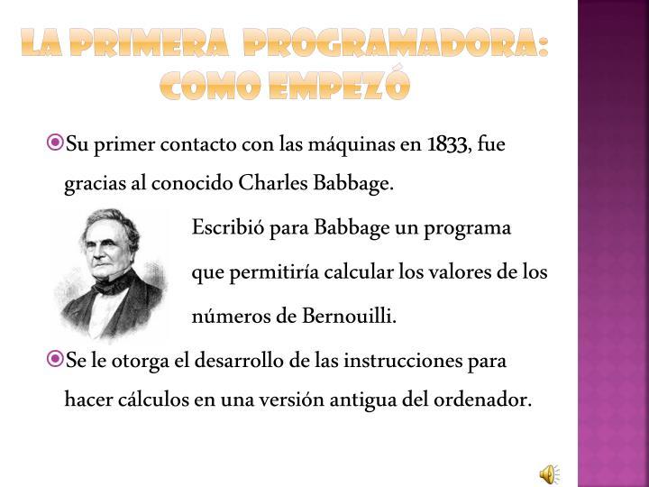 La primera  programadora: