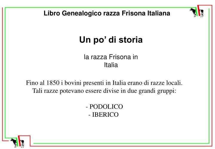 Libro Genealogico razza Frisona Italiana
