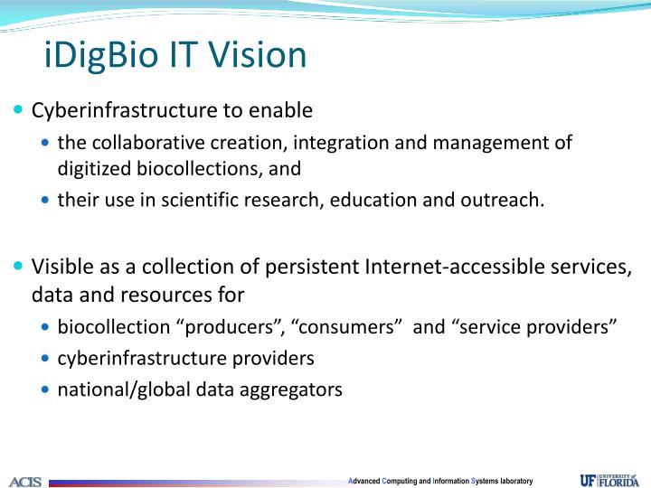 iDigBio IT Vision
