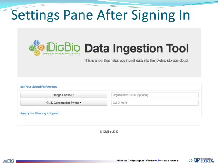 Settings Pane After Signing In