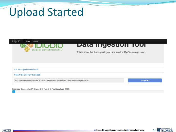 Upload Started