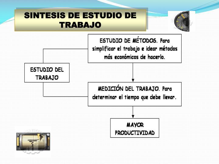 SINTESIS DE ESTUDIO DE TRABAJO