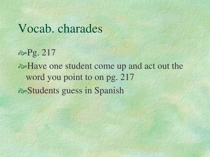 Vocab. charades