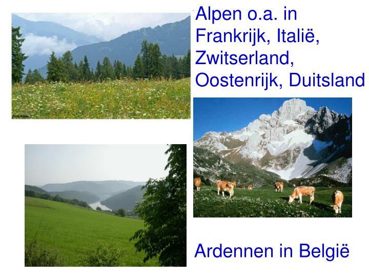 Alpen o.a. in