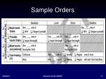 sample orders