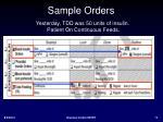 sample orders2