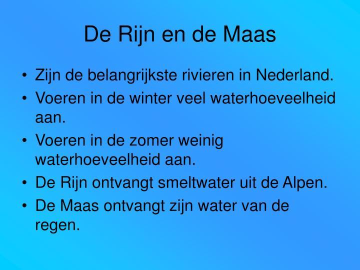 De Rijn en de Maas