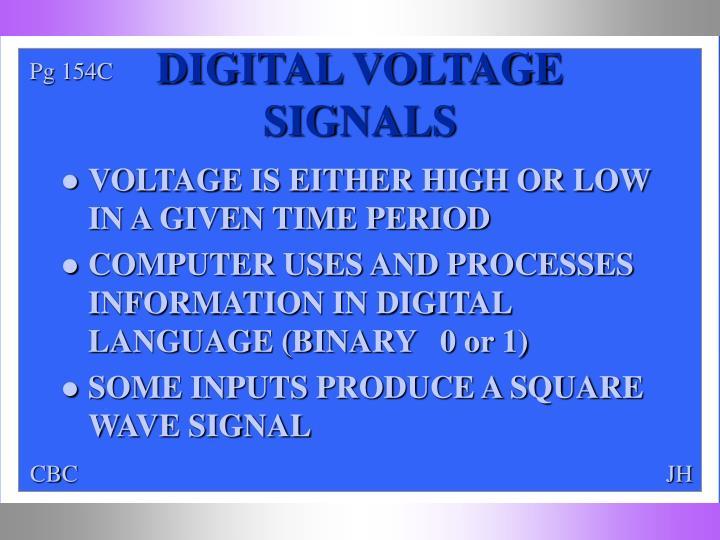 DIGITAL VOLTAGE SIGNALS