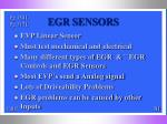 egr sensors