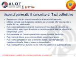 aspetti generali il concetto di taxi collettivo