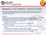bergamo e taxi collettivo ipotesi di studio