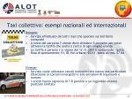 taxi collettivo esempi nazionali ed internazionali