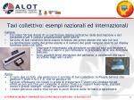 taxi collettivo esempi nazionali ed internazionali1