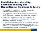 redefining sustainability financial security and repositioning insurance industry